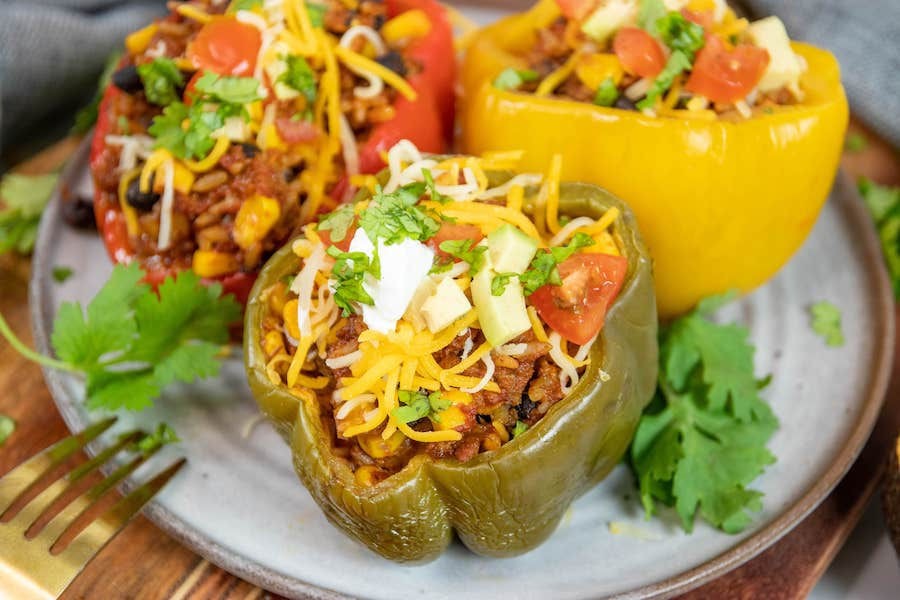 Finished Southwest Stuffed Peppers Recipe