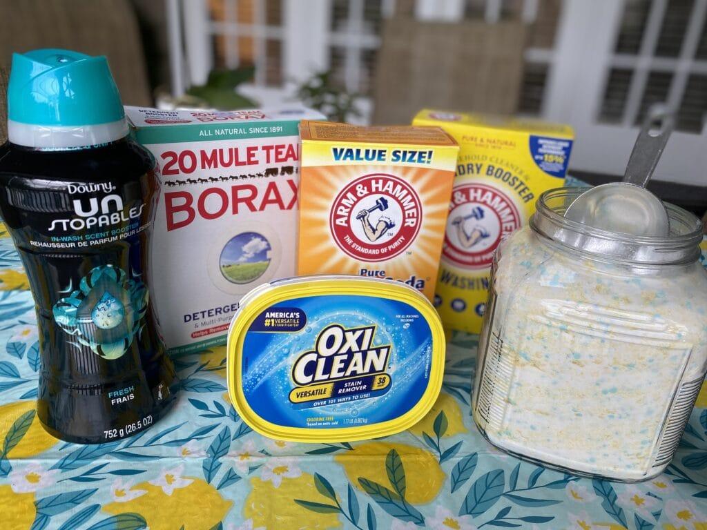 DIY Laundry Detergent Supplies