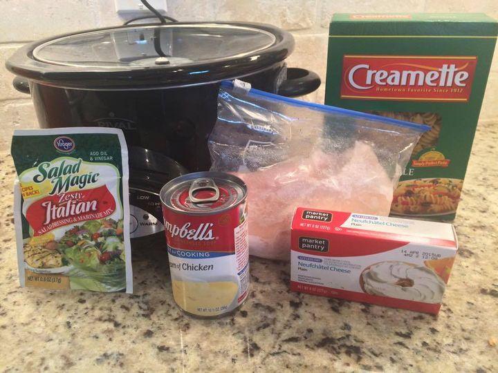 Creamy Crockpot Chicken with Italian Dressing