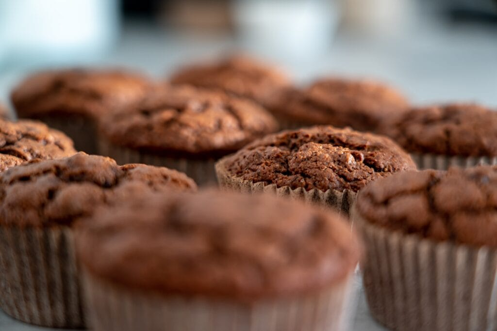 apple banana bran muffins