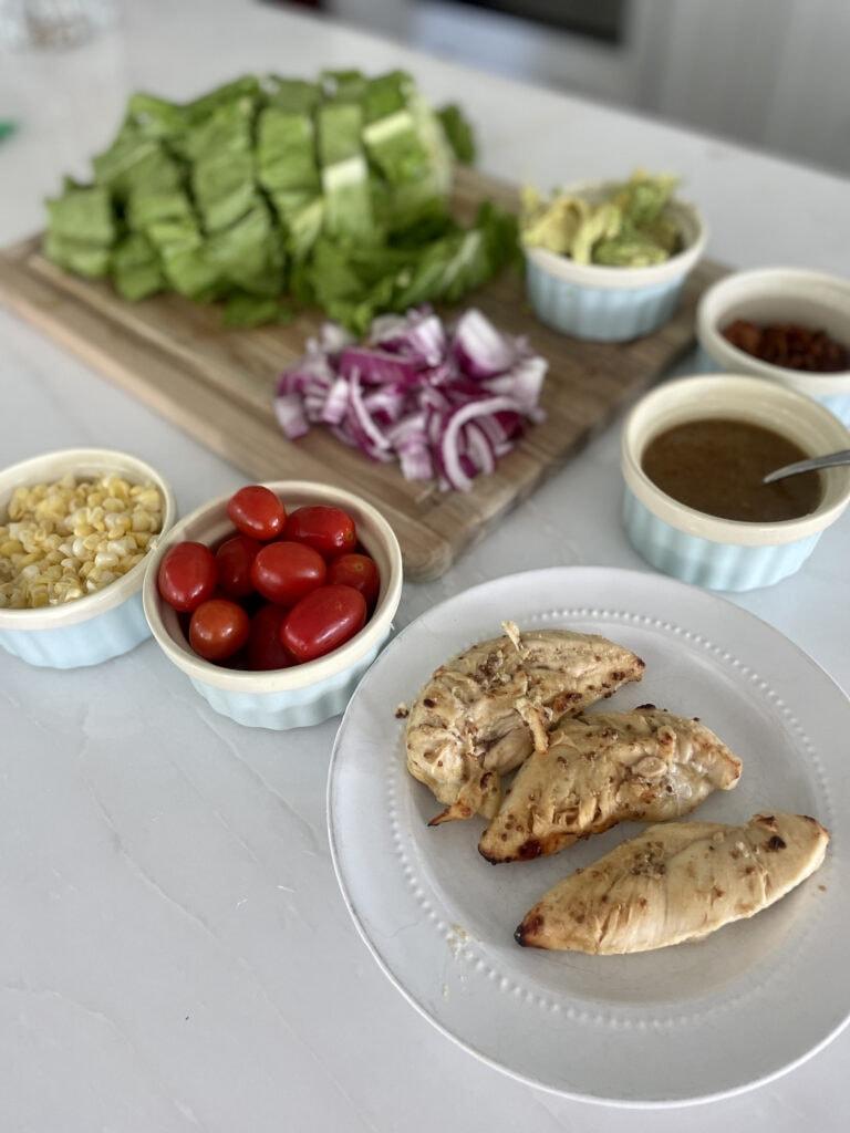 Honey Grilled Chicken Salad Ingredients