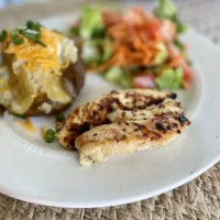 Honey Mustard Grilled Chicken (A Cook Once Eat Twice Meal!)