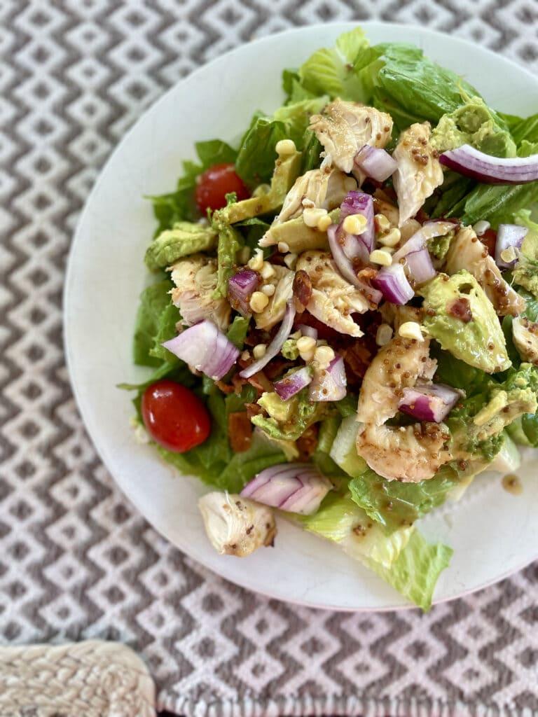 honey mustard grilled chicken salad