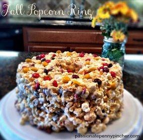 Halloween Candy Recipes - Fall Popcorn Ring