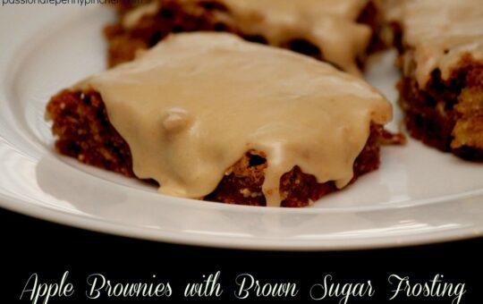 Apple Brownies with Brown Sugar Frosting
