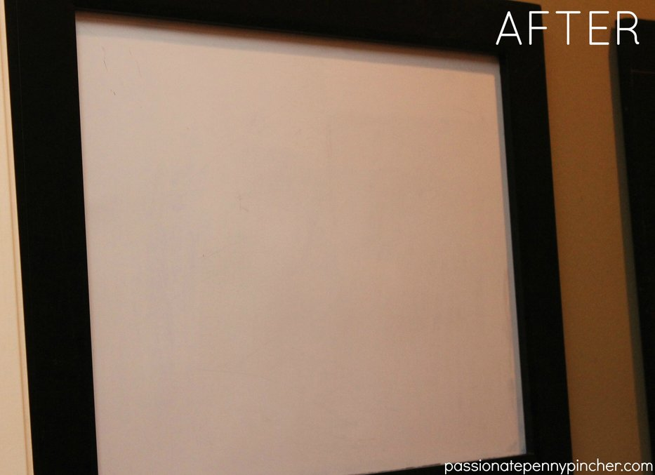 Dry Erase Board After Cleaning