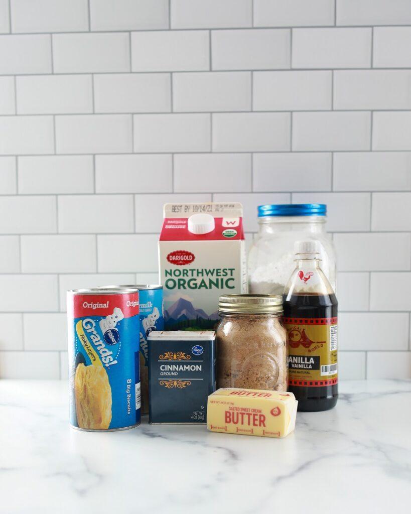 Ingredients for Crockpot Monkey Bread