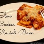 Slow Cooker Ravioli Bake