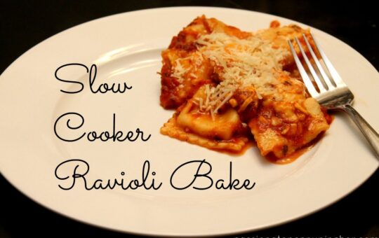 Slow Cooker Ravioli Bake