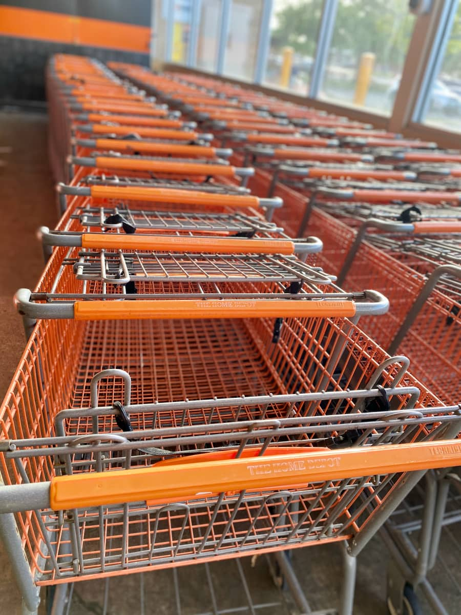 orange shopping carts