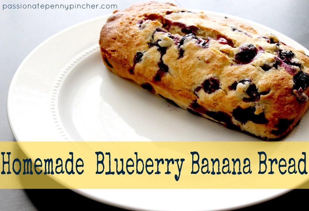 Homemade Blueberry Banana Bread