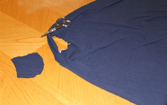 Cutting holes in sheet for cover up