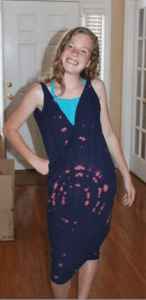 diy swimsuit cover up Tutorial - Finished Wrap