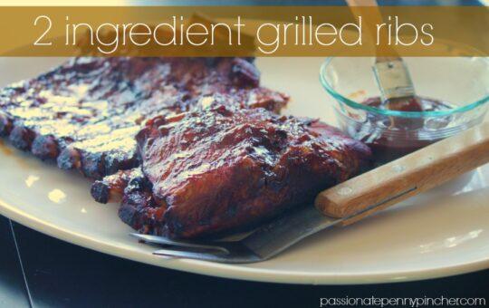2 ingredient grilled ribs