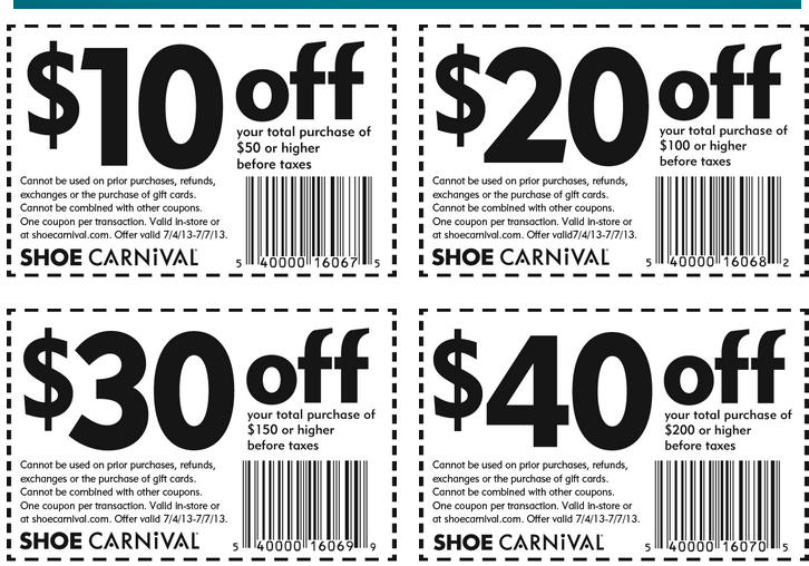Shoe Carnival: Save Up To $40