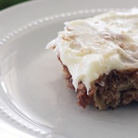 Chunky Apple Cake (Don't miss the Cream Cheese Frosting!)