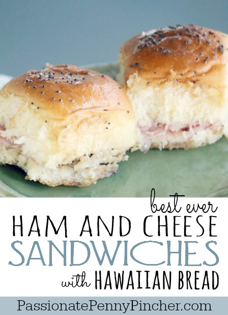ham and cheese sliders with Hawaiian bread