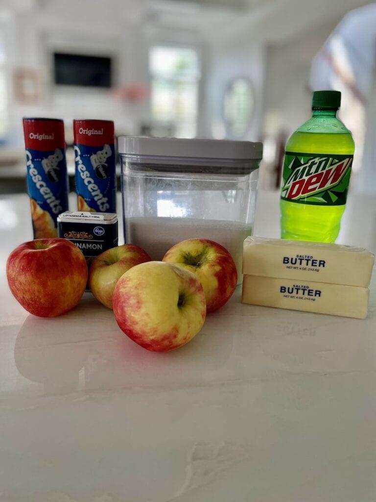 Easy Apple Dumpling Ingredients
