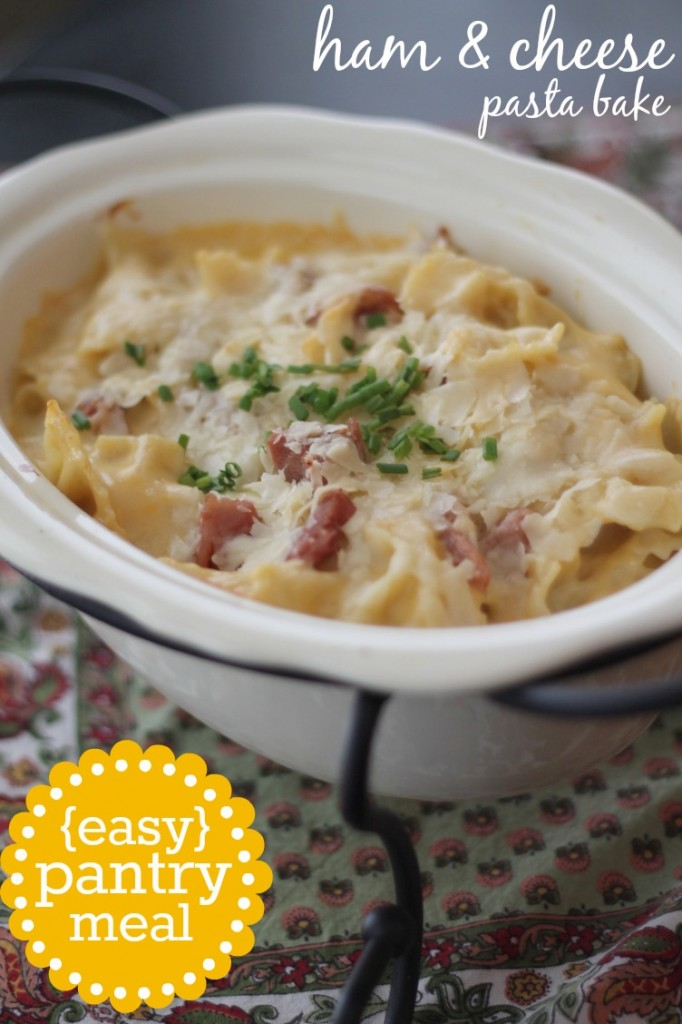 Ham and Cheese Pasta Bake with Leftover Ham
