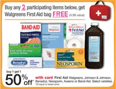 2 Bottles Of Hydrogen Peroxide First Aid Bag Only 1 64 At