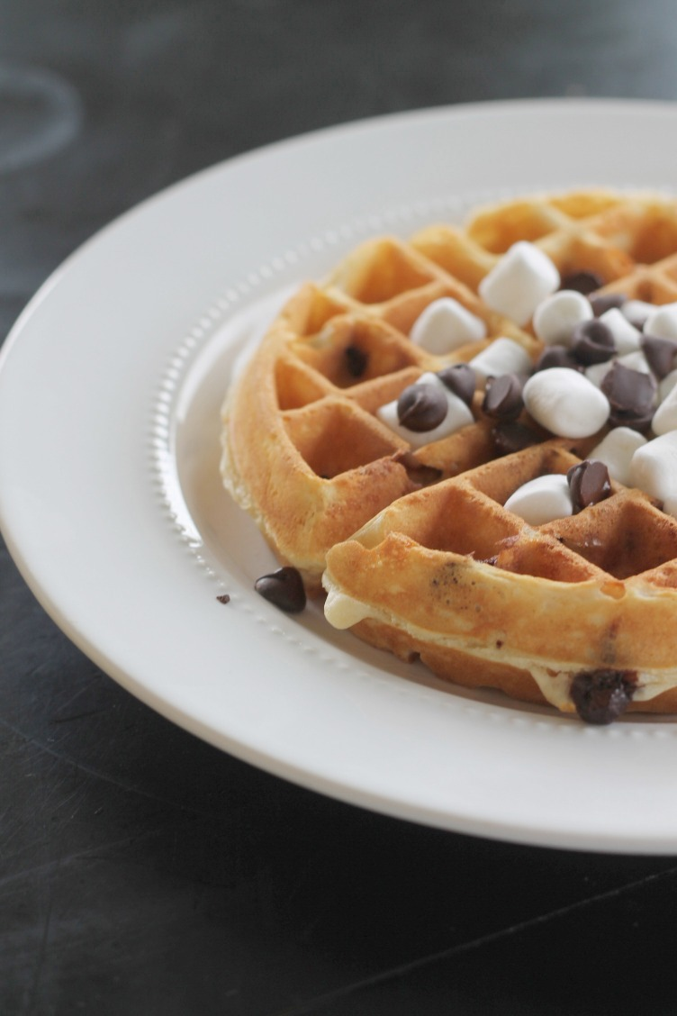Chocolate Chip and Marshmallow waffle