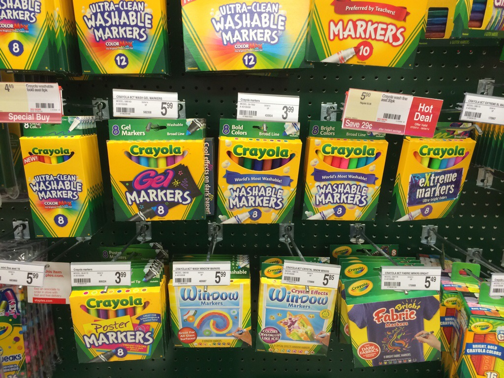Washable Crayola Markers 1 99 At Staples