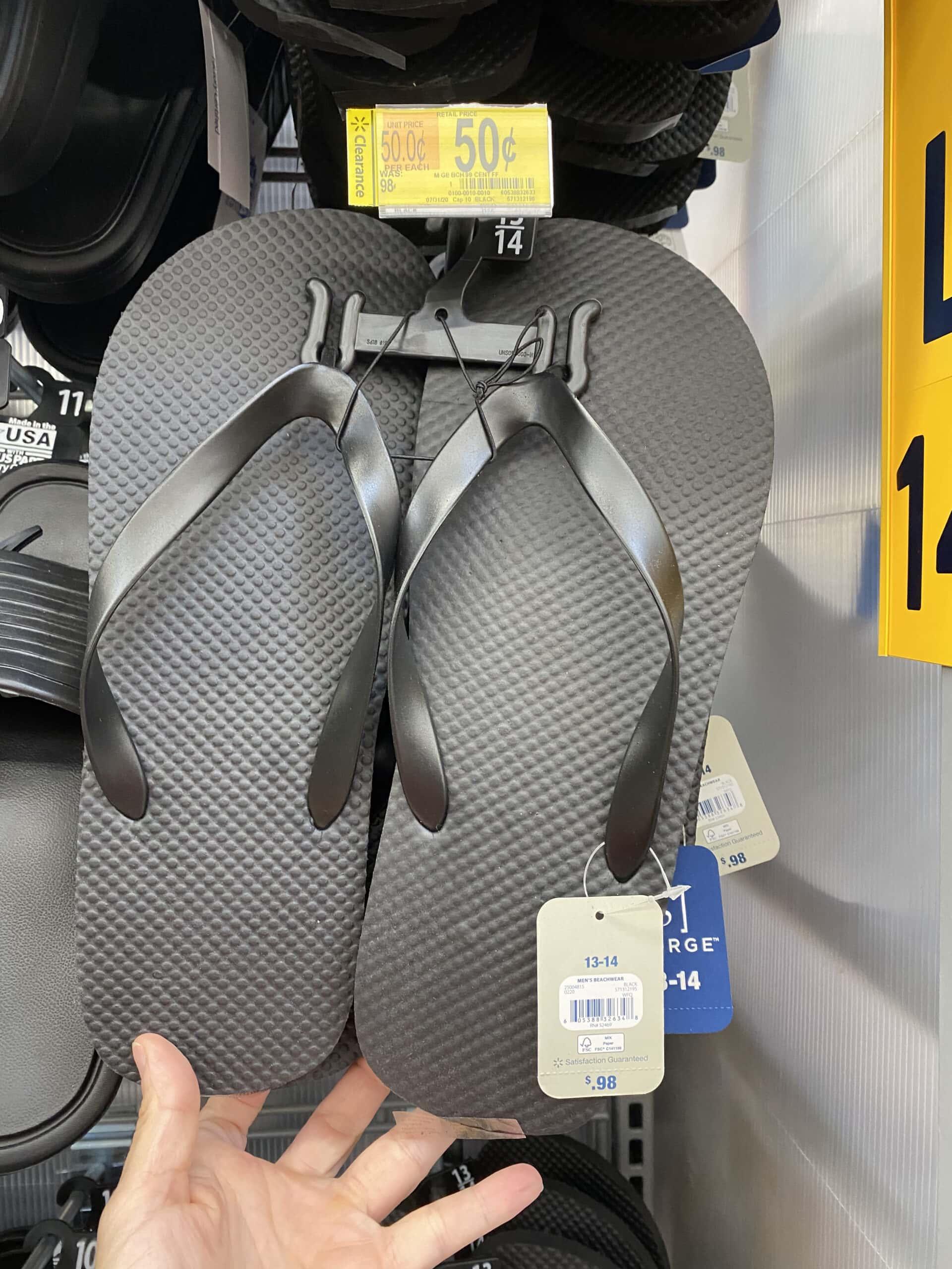 black men's flip flops