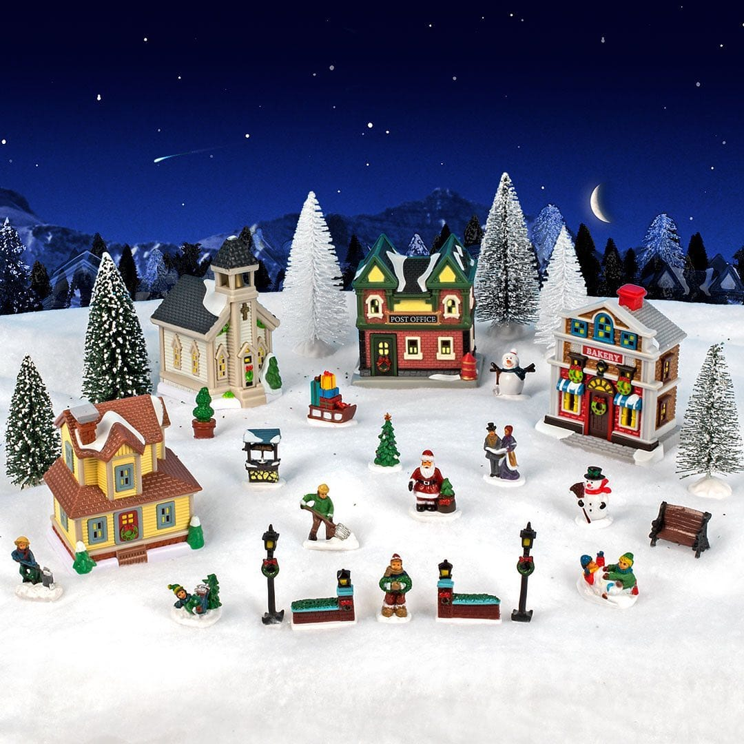 2021 Dollar Tree Christmas Village Dollar Tree 27 Piece Christmas Village 13 Online Only Limited Supplies