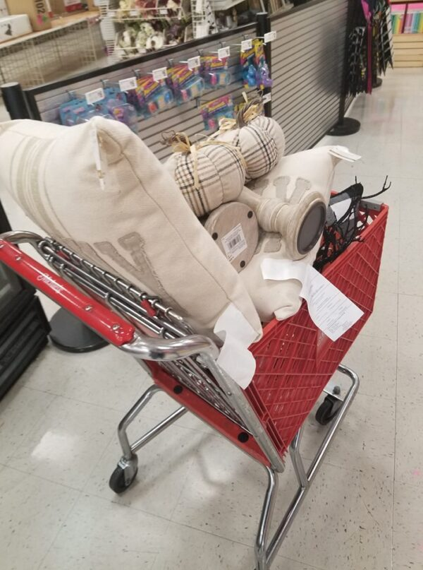 cart full of michaels clearance finds