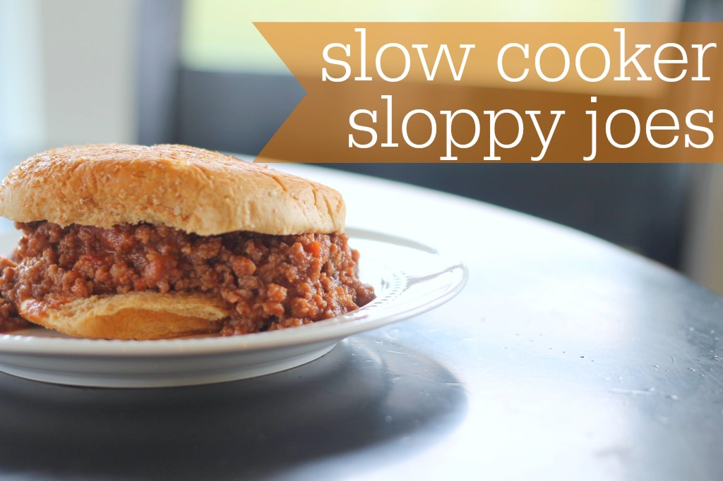 Slow Cooker Sloppy Joes on Plate