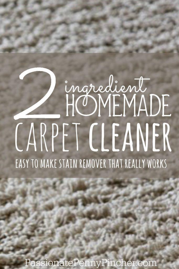 Homemade Carpet Cleaner - PINTEREST