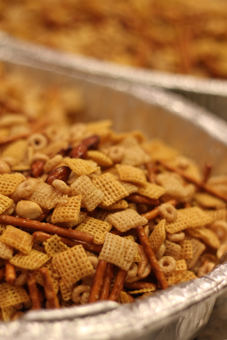 Making Chex Mix at Home