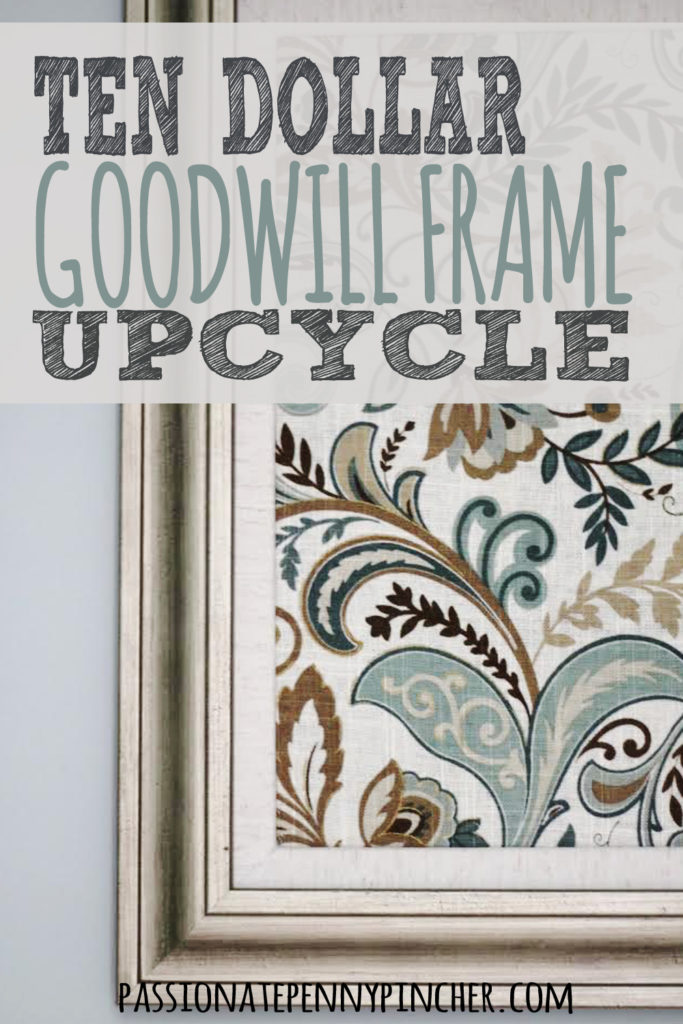 $10 Goodwill Frame Upcycle