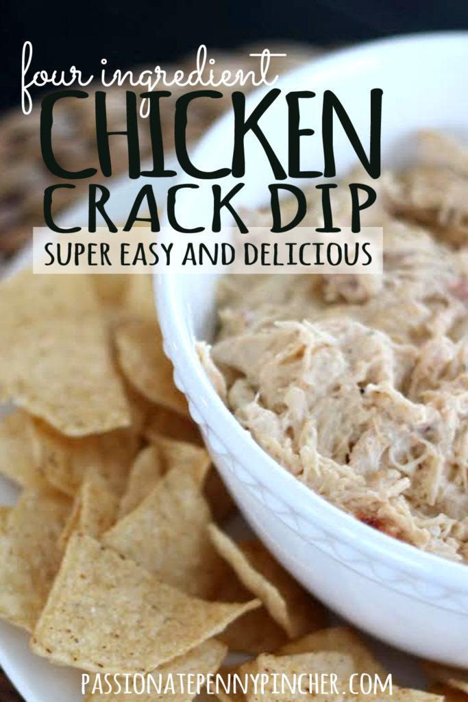4 Ingredient Chicken Crack Dip