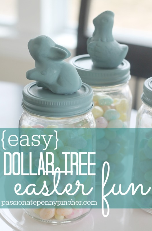 I just love this darling dollar tree easter craft, it's super easy and inexpensive!