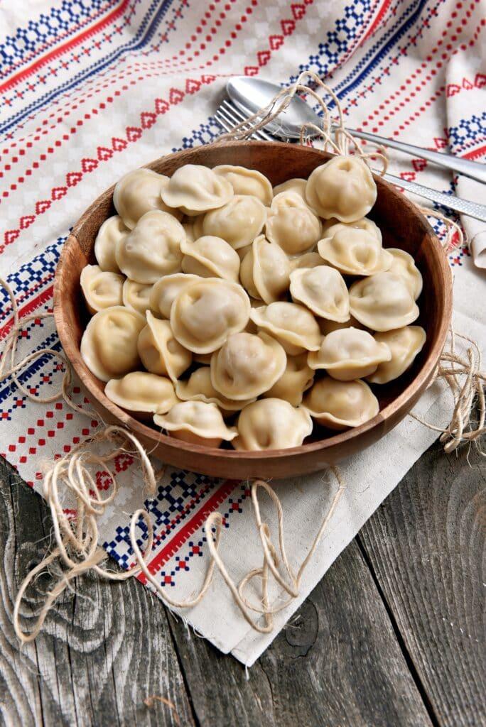 Ravioli cooked in bowl