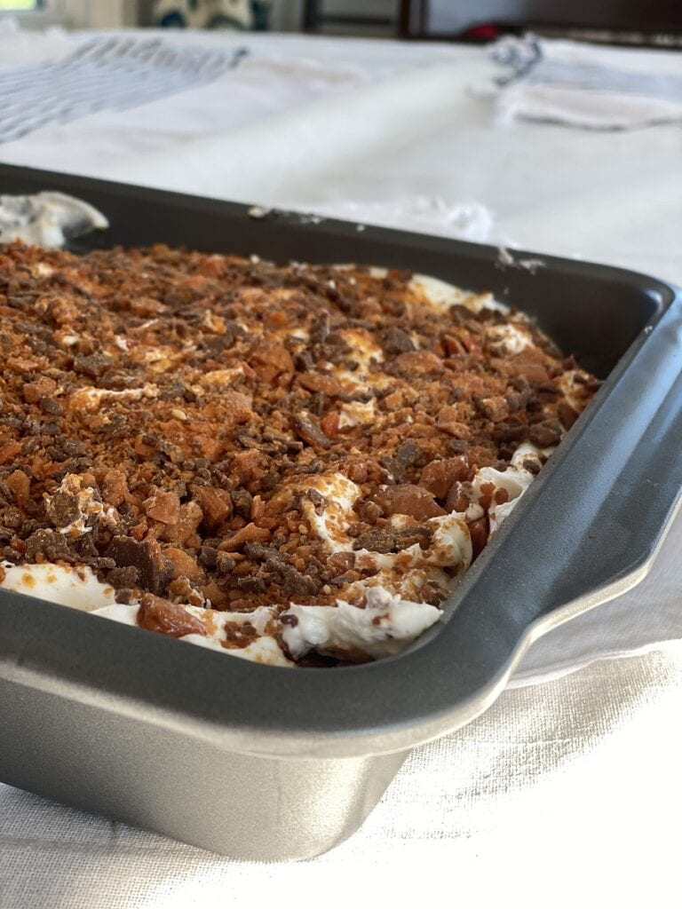 Finished Butterfinger Cake Recipe