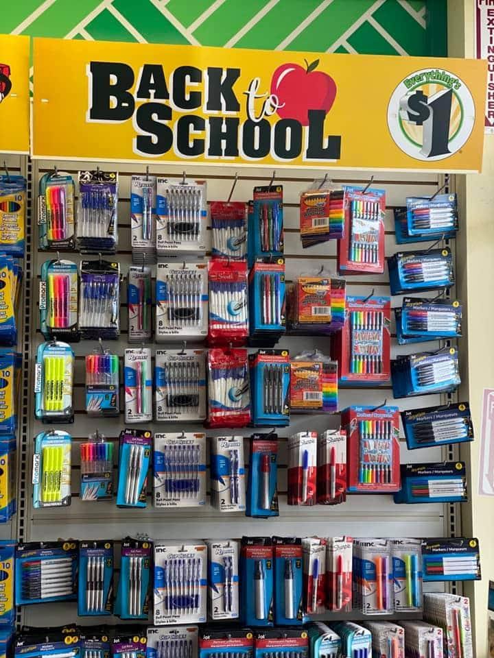 $1 school supplies at Dollar Tree