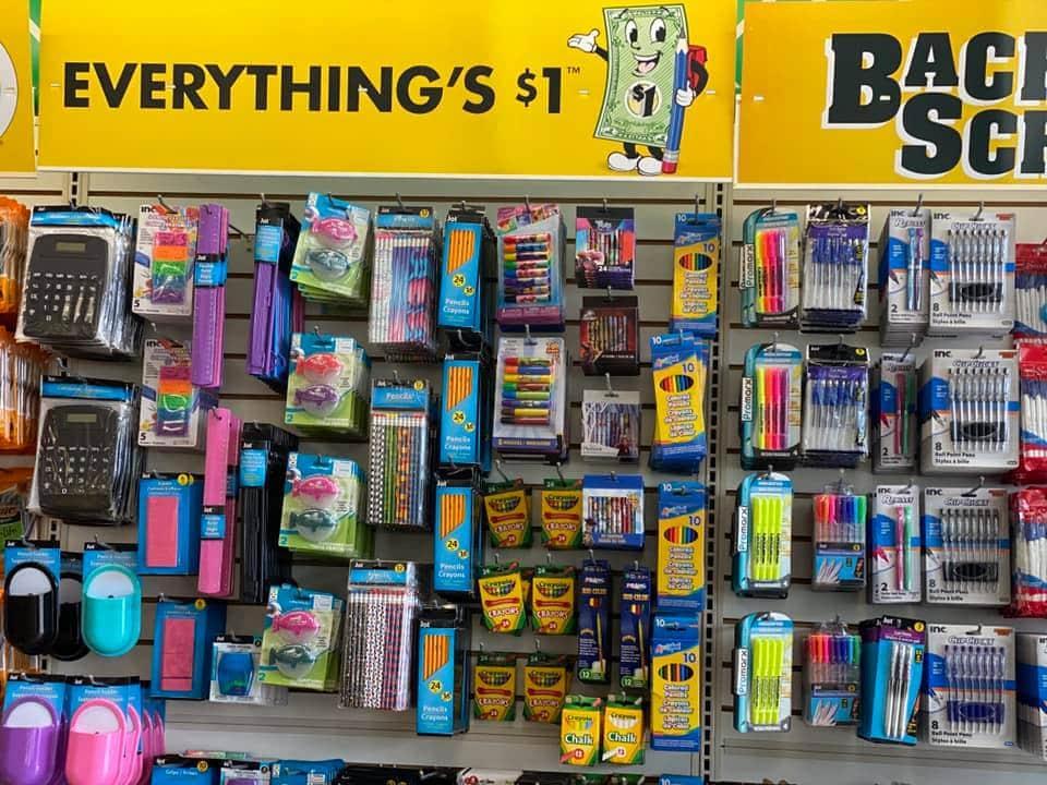 Dollar Tree school supplies