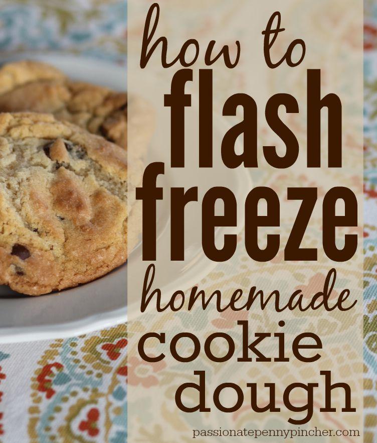 flash freeze cookie dough