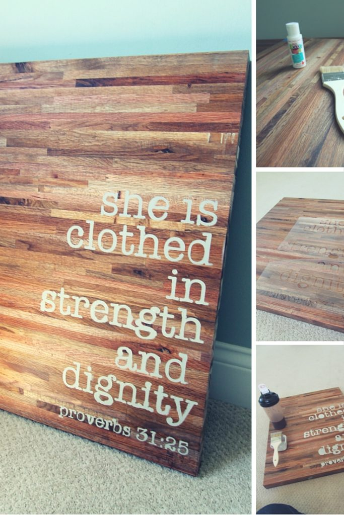 DIY Butcher Block Sign