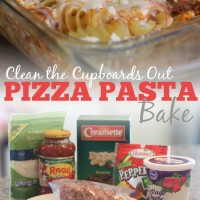 Clean the Cupboard Out Pizza Pasta Bake