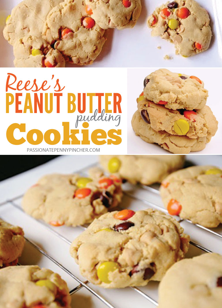 Reese's Peanut Butter Pudding Cookies Finished