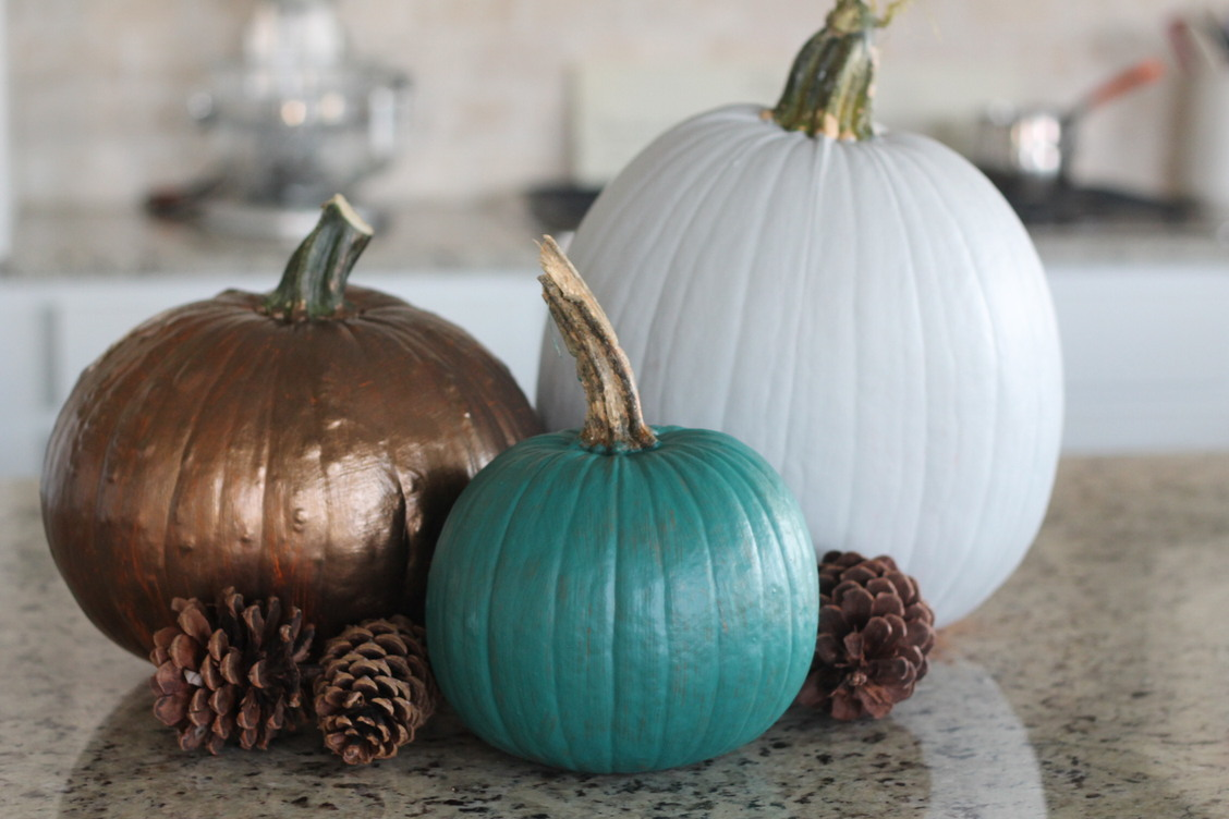 Finished Cute Painted Pumpkins