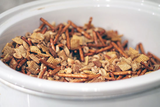 Chex Mix in the Slow Cooker