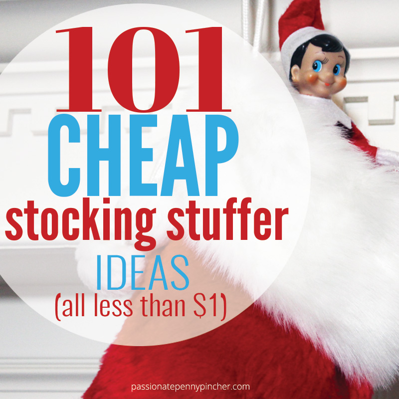 101 Cheap Stocking Stuffer Ideas for the whole family - Stocking stuffers can easily cost a fortune if you're not careful, but a little planning can fill those stockings fast!