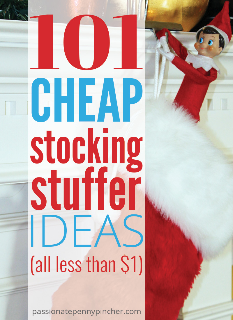Do not bust your budget on stocking stuffers this Christmas! Check out these 101 cheap stocking stuffer ideas!