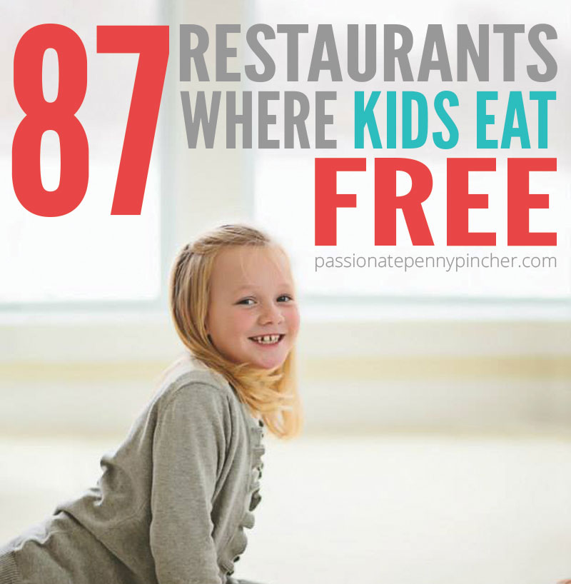 Restaurant Where Kids Eat Free child smiling