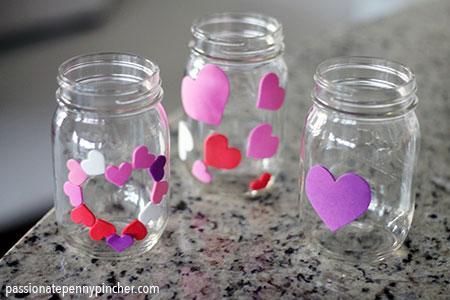 Mason Jar Craft with Hearts