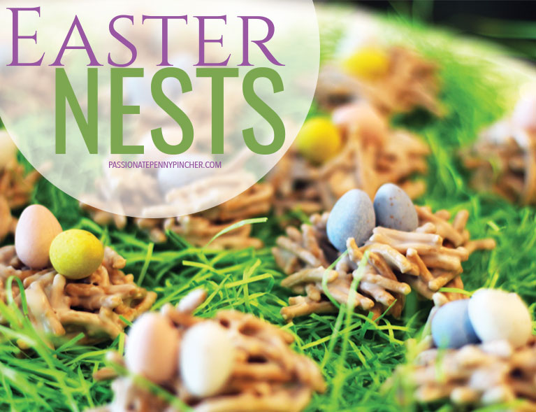 Easter Nests Finished in Easter Grass